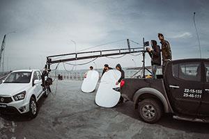 Съемочный этап рекламного ролика
