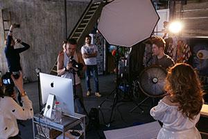 Рабочий процесс на съемочной площадке