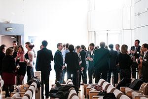 Общение и отдых на конференции -кадры из видеосъемки